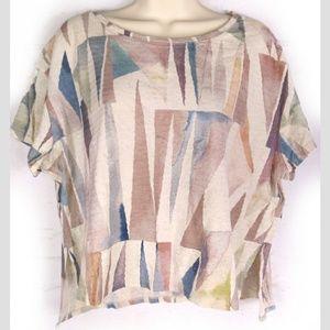 Anthropologie Postmark Geometric T-Shirt Triangle